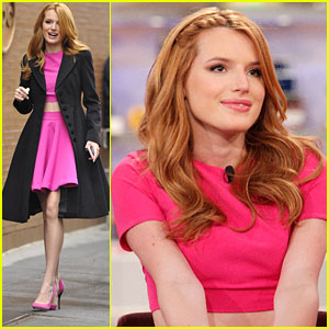 Bella Thorne Hits 'The View' Before New York Spring Spectacular Opening Night!