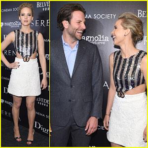 Jennifer Lawrence Makes Bradley Cooper Crack Up at 'Serena' Premiere