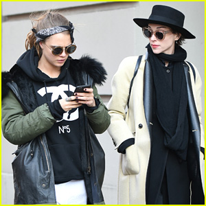 Cara Delevinge Steps Out With Rumored Girlfriend St. Vincent in NYC