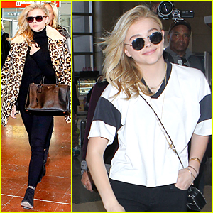 Chloe Moretz Knows How to Make a Stylish Arrival in Paris