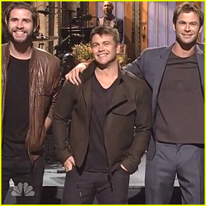 Liam Hemsworth Joins Brother Chris On Stage for 'SNL' Monologue!