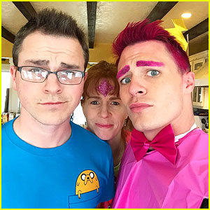 Colton Haynes Transforms Into Adventure Time's Prince Bubblegum For Nephew's Birthday - See The Pics!