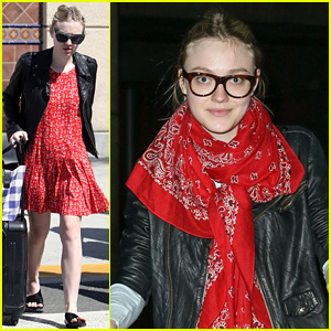 Dakota Fanning Had a Belated 21st Birthday Trip in Vegas!