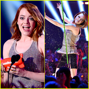 Emma Stone Accepts Favorite Movie Actress Award at Kids' Choice Awards 2015