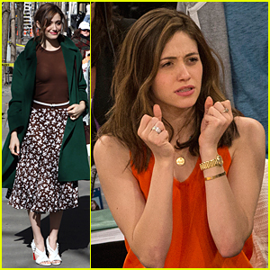 Emmy Rossum's Goes Through Emotional Roller Coaster at Knicks Game!