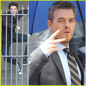 Grant Gustin & Rick Cosnett Get Even More Silly For the Cameras On 'The Flash' Set