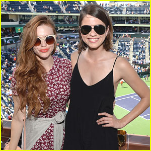 Holland Roden & Shelley Hennig Hit Up BNP Paribas Open With Max Carver