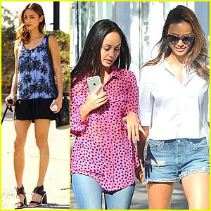 Jamie Chung & Cara Santana Catch Up During Shopping Trip