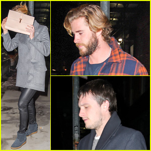 Jennifer Lawrence Hangs With 'Hunger Games' Hunks Liam Hemsworth & Josh Hutcherson in NYC