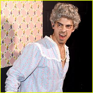 Joe Jonas Dresses Up As His Grandma for Kids' Choice Awards 2015 (Video)