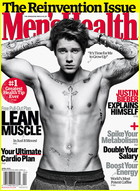 Justin Bieber Goes Shirtless Sexy For 'Men's Health' Cover