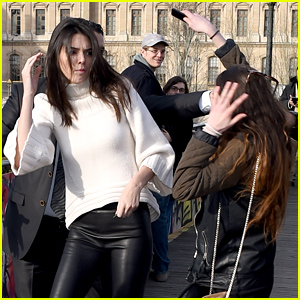 Kendall Jenner Gets Attacked By a Fan While Sightseeing in Paris (Photos)