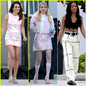 Lea Michele Gets to Work on 'Scream Queens'!