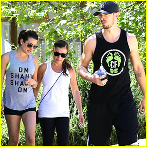 Lea Michele & Matthew Paetz Hit The Trails at TreePeople Park