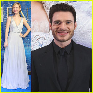 Lily James Admits She Burped In Richard Madden's Face Because Of Her 'Cinderella' Corset
