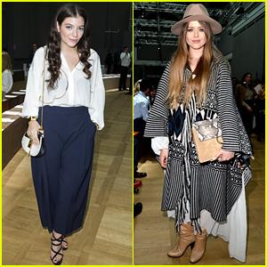 Lorde Meets Up with Kristina Bazan & Kelly Rowland at Chloe Fashion Show!