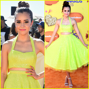 Megan Nicole Brightens Up the Kids Choice Awards 2015 in Neon Yellow