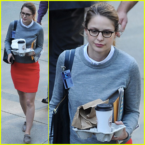 Melissa Benoist Goes Nerdy Chic for 'Super Girl' Pilot Filming