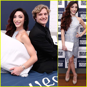 Meryl Davis & Charlie White Open Airweave's First US Store in New York City