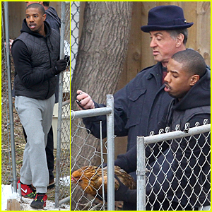 Michael B. Jordan Tries to Catch Chicken Under Good Time For 'Creed'