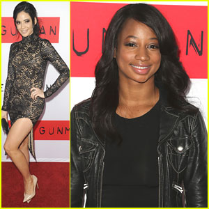 Monique Coleman & Edy Ganem Hit Up 'The Gunman' Premiere