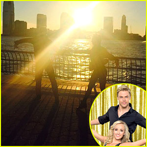 Nastia Liukin & Derek Hough Practice Their Rumba In Front Of NYC's Stunning Sunset - See The Pics!