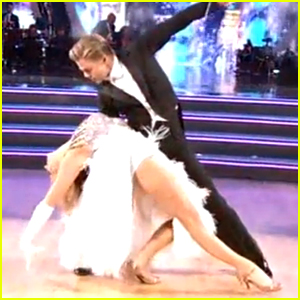Nastia Liukin & Derek Hough Excel on Foxtrot on 'DWTS' - Watch Now!