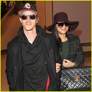 Naya Rivera & Ryan Dorsey Land at LAX Airport After Baby News