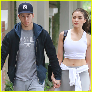 Nick Jonas & Olivia Culpo Hold Hands For Coffee Date