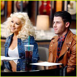 Nick Jonas & Christina Aguilera Team Up on 'The Voice' - Pics & Video!
