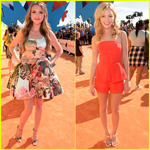 Olivia Somerlyn & Audrey Whitby Hit The Kids Choice Awards 2015