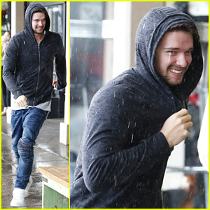 Patrick Schwarzenegger Runs in the Rain to Grab Lunch for Him & Miley Cyrus!
