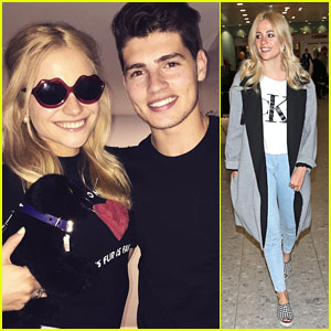 Pixie Lott Returns To London After Reuniting With Gregg Sulkin