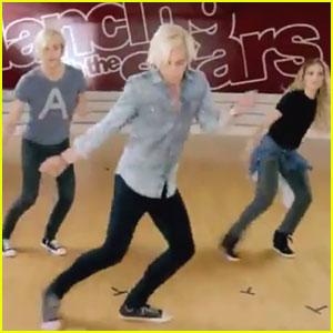 Ross Lynch Teaches Brother Riker & Allison Holker His 'Teen Beach 2' Moves