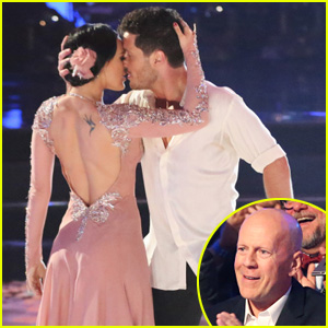 Rumer Willis & Val Chmerkovskiy Get 'DWTS' Cheers From Her Parents Bruce & Demi Moore - See the Pics!
