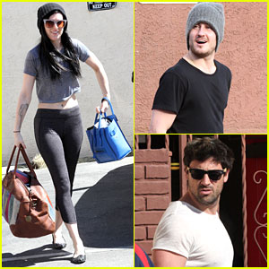 Rumer Willis & Val Chmerkovskiy Get Visits From Siblings Scout Willis & Maksim Chmerkovskiy at 'DWTS' Studio