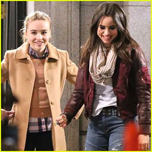 Sabrina Carpenter & Sofia Carson Start Filming 'Further Adventures In Babysitting'