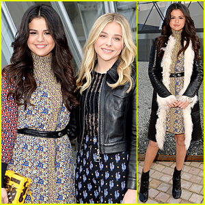 Selena Gomez & Chloe Moretz Hang Out Together at Louis Vuitton Show