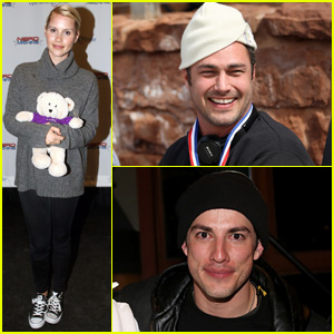 'Vampire Diaries' Reunion! Taylor Kinney, Michael Trevino, & Claire Holt Ski for a Good Cause!