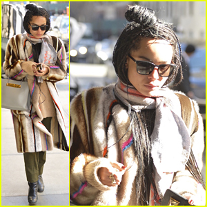 Zoe Kravitz Is Back in NYC After Busy Oscars Weekend!