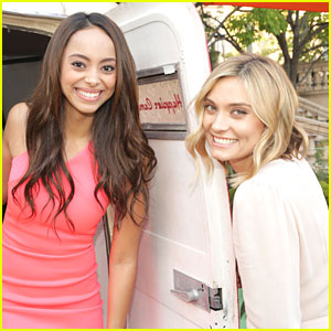 Greek Reunion! Amber Stevens West & Spencer Grammer Meet Up At NBC's Summer Press Day!