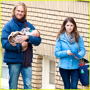 Anna Kendrick Cares For A Baby on 'Table 19' Set