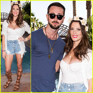 Ashley Greene Has Some Festival Fun at Just Jared's Party Presented by Sonix!