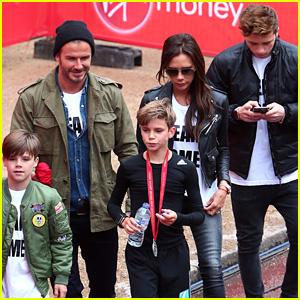 Brooklyn Beckham Cheers on Brother Romeo at Junior London Marathon