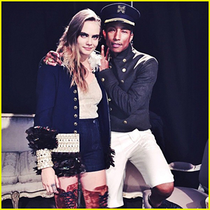Cara Delevingne Hits the Stage with Pharrell Williams to Perform 'CC The World'!