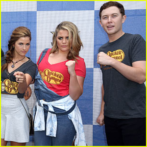 Cassadee Pope & Lauren Alaina Play A Giant Checkers Game For A Cause Ahead of ACM Awards