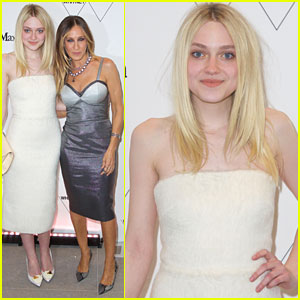 Dakota Fanning Wows In White For Whitney Museum Of Art Opening Night