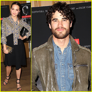 Darren Criss Steps Out To Support Alicia Vikander & Oscar Isaac at 'Ex Machina' Premiere!