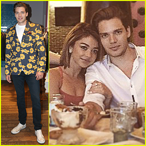 Dominic Sherwood & Sarah Hyland Cozy Up in Las Vegas