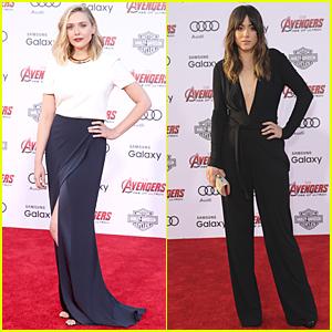 Elizabeth Olsen & Chloe Bennet Strike a Pose at 'Avengers: Age of Ultron' Premiere!